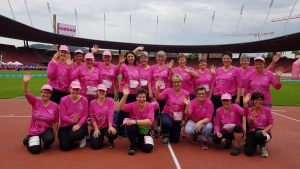 Gruppenbild in pink
